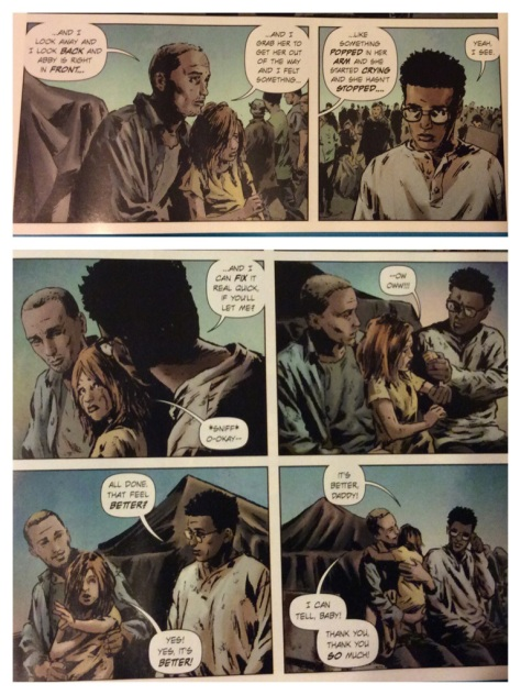 From Lazarus #8, Image Comics, Written by Greg Rucka, Art by Michael Lark
